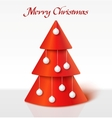 Red christmas tree with balls vector image