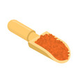 red lentils in wooden scoop isolated groats in vector image vector image