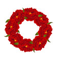 red peony flower wreath vector image vector image