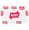 rent label flag sticker on corner the vector image