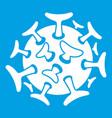 Round viral bacteria icon white