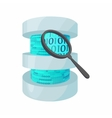 Search data in database icon cartoon style vector image vector image