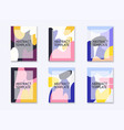 set flyers with abstract design can be used vector image vector image