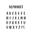 set of alphabet letters vector image
