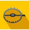 Sharp metal trap flat icon vector image vector image