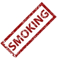 Smoking rubber stamp vector image vector image