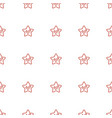 star icon pattern seamless white background vector image vector image