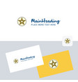 star logotype with business card template elegant vector image