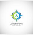 star polygon arrow logo vector image vector image
