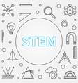 stem frame science in outline vector image vector image
