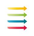 three different arrows vector image vector image