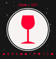 wineglass icon vector image vector image
