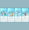 wintertime placards and text vector image