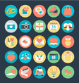 Love and Romance Colored Icons 5 vector image