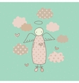 Angel on a cloud vector image