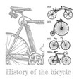 bicycle evolution set vector image