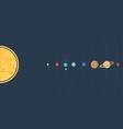 Solar system flat vector image
