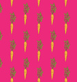 carrot monotonous pattern vector image