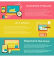 Set of flat design concepts for creative process vector image