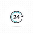 24 hours flat icon vector image