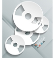3d cd paper design vector image