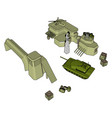 3d on white background a military base vector image vector image