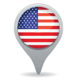american flag pointer vector image