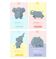 Animal banner with Elephant for web design 1 vector image vector image