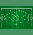 background soccer team formation and tactic vector image vector image