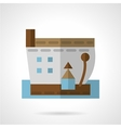 Barge icon flat style vector image vector image