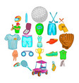 best sportsman icons set cartoon style vector image vector image