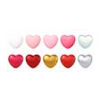 big valentines day set different color vector image