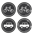 Bike and retro label vector image vector image