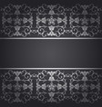 black background baroque with flowers vector image vector image