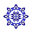 blue and white flower mandala vector image