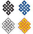 buddhist endless knot vector image