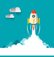 Business rocketship startup symbol flat design of