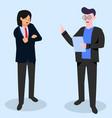 businessman website vector image vector image
