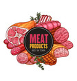 butcher shop farm meat vector image