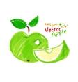 Childlike drawing of apple vector image