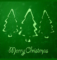 christmas greeting card with green background vector image vector image