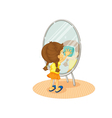 Cleaning mirror vector image vector image