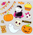 collection halloween icons vector image vector image