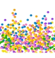 Colorful confetti on blue background vector image vector image