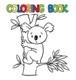 Coloring book with funny koala vector image