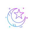 crescent icon design vector image vector image
