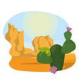 desert landscape cartoon vector image vector image