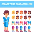 Female character creation set See also guys kit vector image vector image