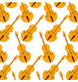 fiddle classic instrument seamless pattern image vector image