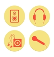 flat musical icons set on white background vector image vector image